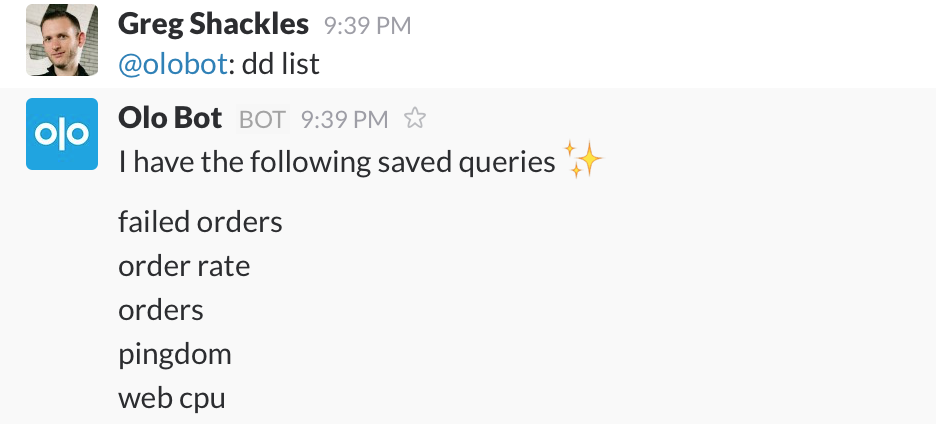 Listing saved queries