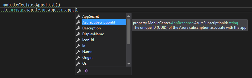 Resource intellisense
